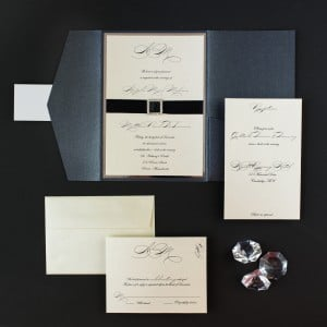 elegant script wedding invitations
