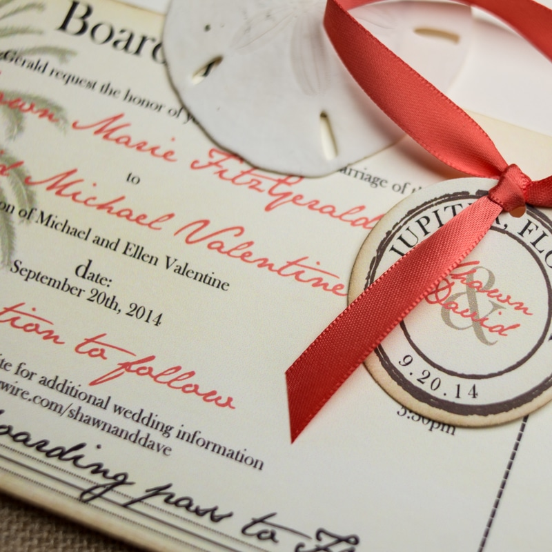 Vintage Boarding Pass Wedding Invitations - Too Chic & Little Shab ...