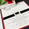 victorian scroll wedding invitations
