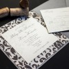 rustic damask wedding invitations