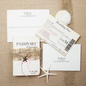 starfish passport wedding invitations