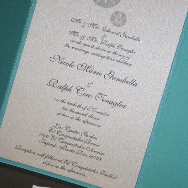 Sand Dollar Wedding Invitations