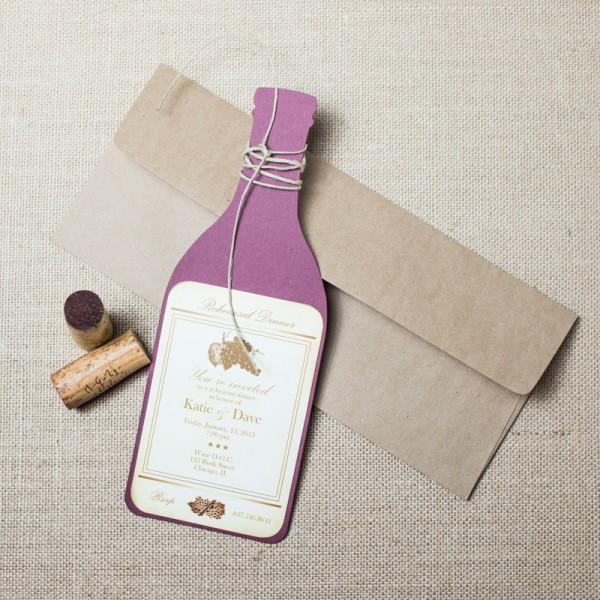 wine rehearsal dinner invitations