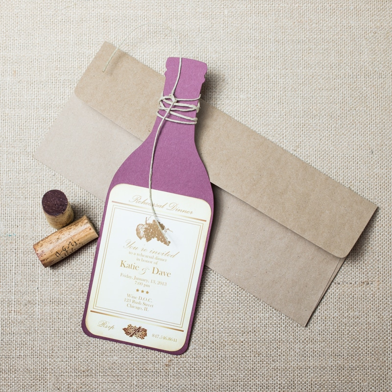 wine rehearsal dinner invitations too chic little shab design