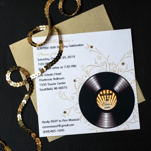 motown birthday invitations