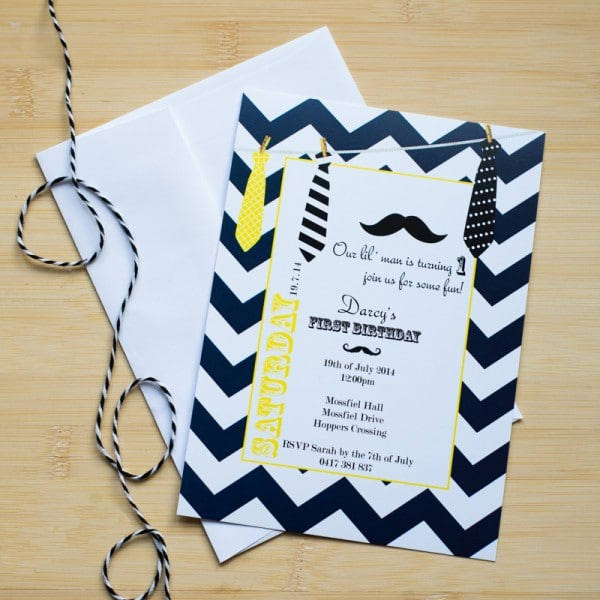 lil man birthday invitations