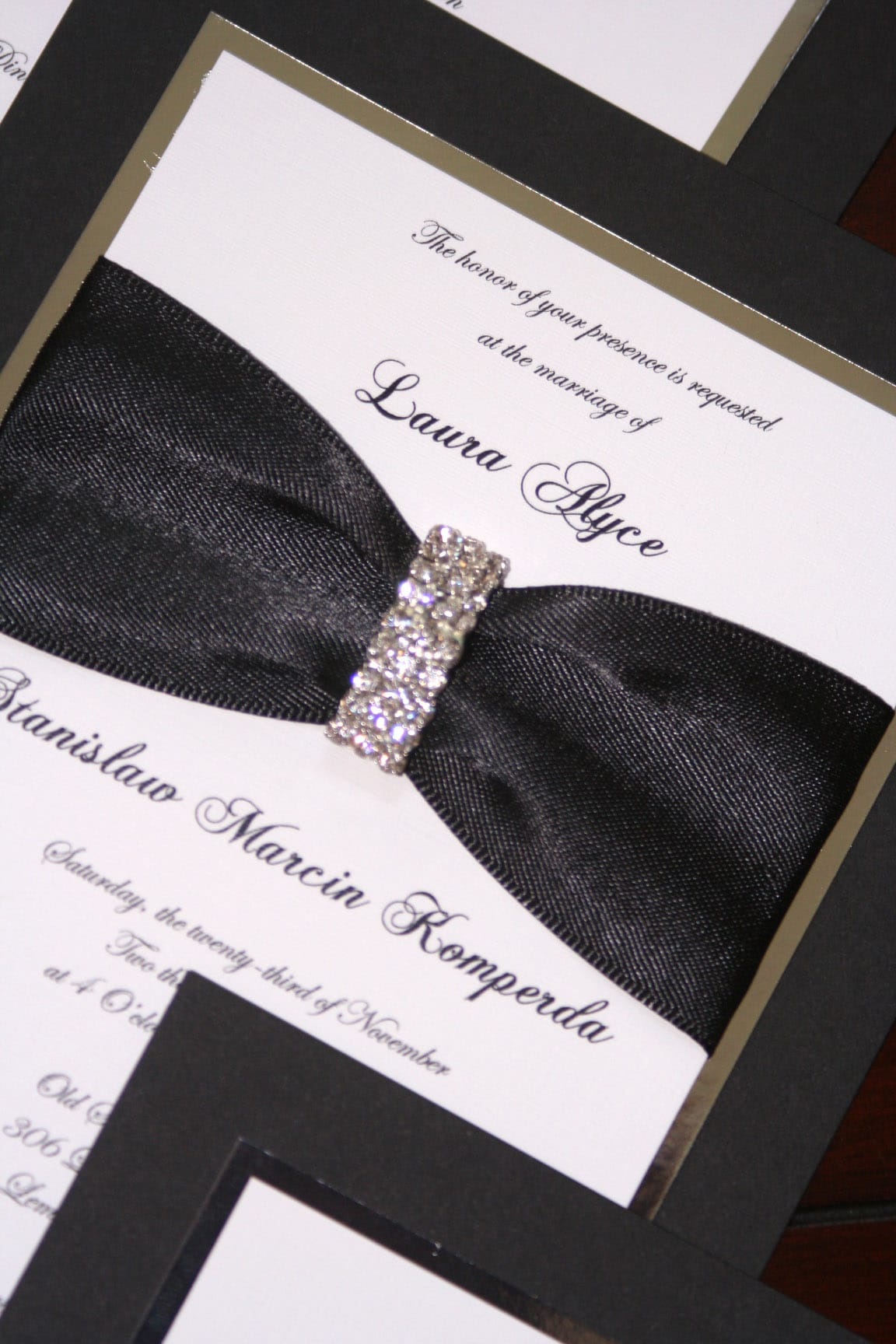 Bling Bling Wedding Invitations for best invitations sample