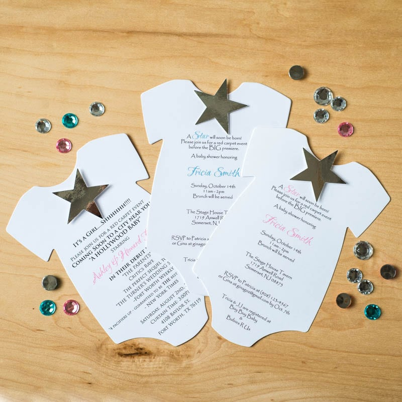 A Star Is Born Hollywood Baby Shower Invitations Too Chic Little