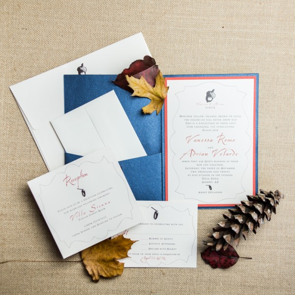 acorn wedding invitations