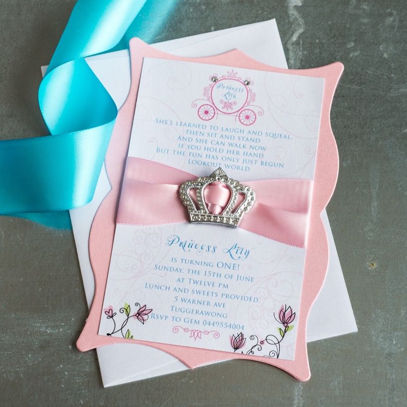 Princess birthday invitations too chic little shab design studio princess birthday invitations filmwisefo