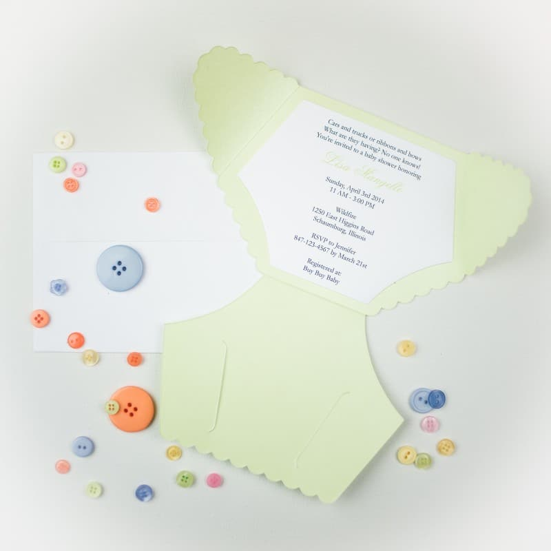 Handmade Diaper Baby Shower Invitations Diaper Baby Shower Invitations