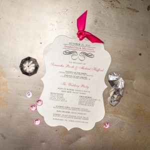 die cut wedding programs