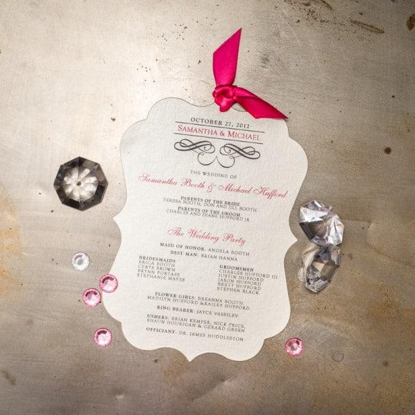 die cut wedding programs