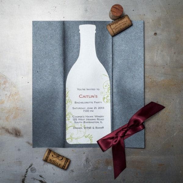 wine bachelorette party invitations