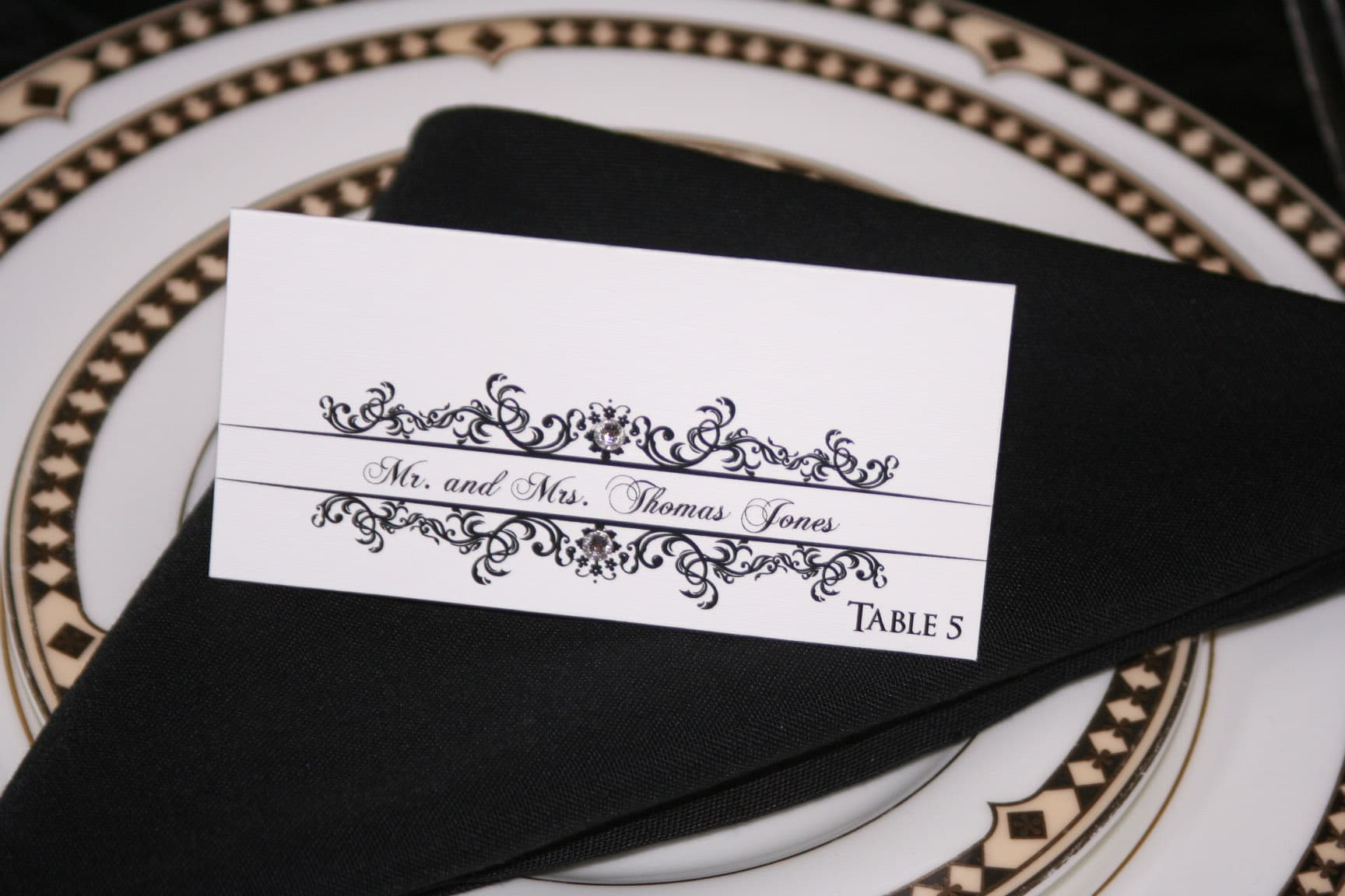 classic wedding place cards wedding place cards Classic Wedding Place Cards 1