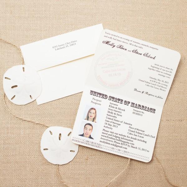 mexican passport wedding invitations