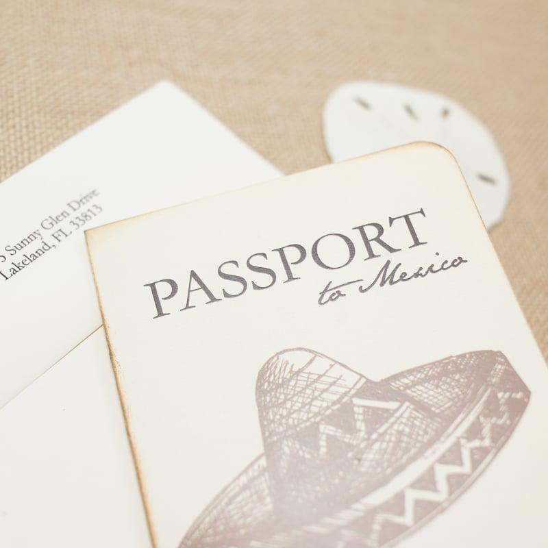 Mexican Passport Wedding Invitations - Too Chic & Little Shab Design ...