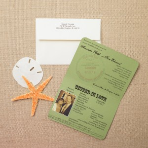 vintage passport wedding invitations