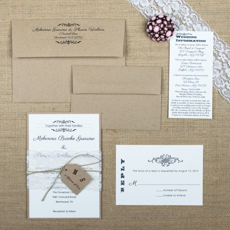 Shabby Chic Wedding Invitations Too Chic Little Shab Design
