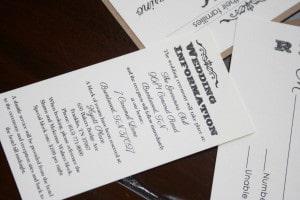 Shabby Chic Wedding Invitations 1