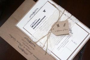 Shabby Chic Wedding Invitations 12