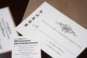 Shabby Chic Wedding Invitations 4
