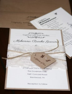 Shabby Chic Wedding Invitations 7
