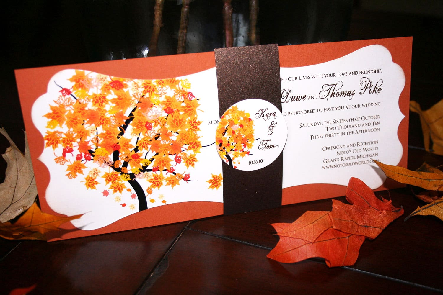 Unique Fall Wedding Invitations - Too Chic & Little Shab ...