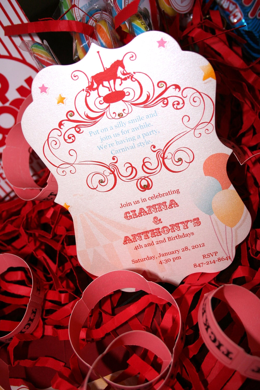 Carnival Birthday Party - Too Chic & Little Shab Design Studio, Inc.