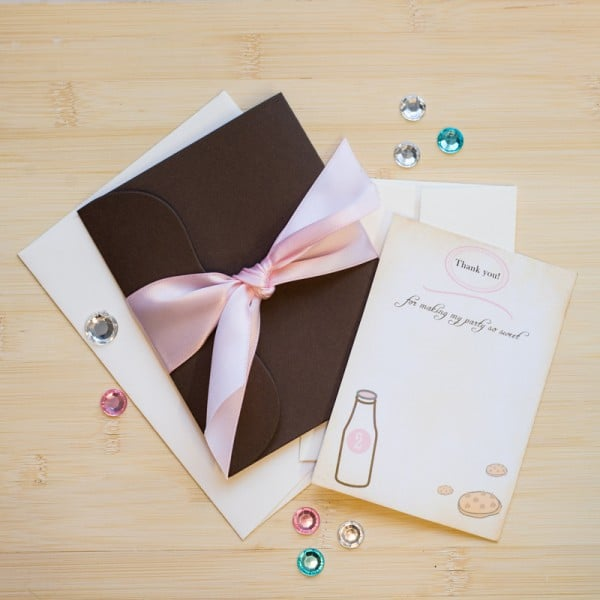 milk and cookies birthday invitations