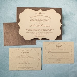 scalloped edge wedding invitations