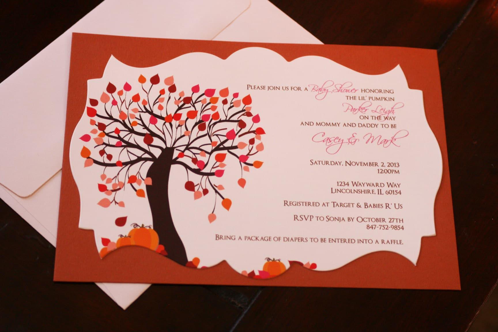 lil pumpkin baby shower invitations too chic little shab design