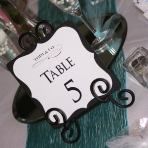 Tiffanys Bridal Shower Table Numbers 2