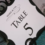 Tiffanys Bridal Shower Table Numbers 3