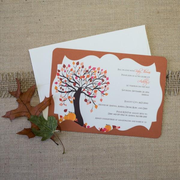 lil pumkin baby shower invitations