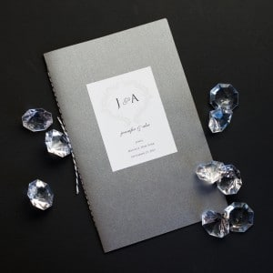 sophisticated wedding programs