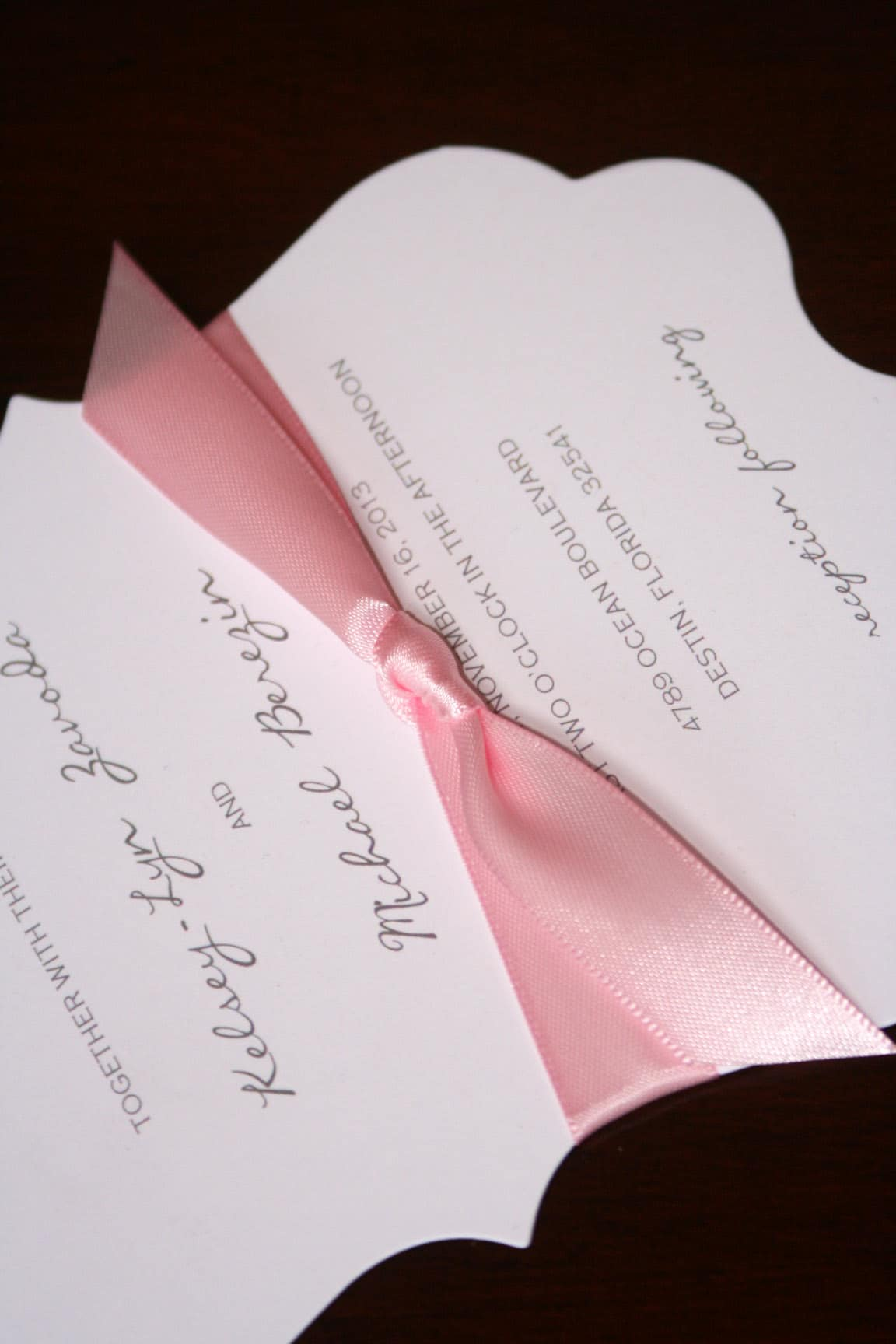 Die Cut Wedding Invitations Too Chic Amp Little Shab