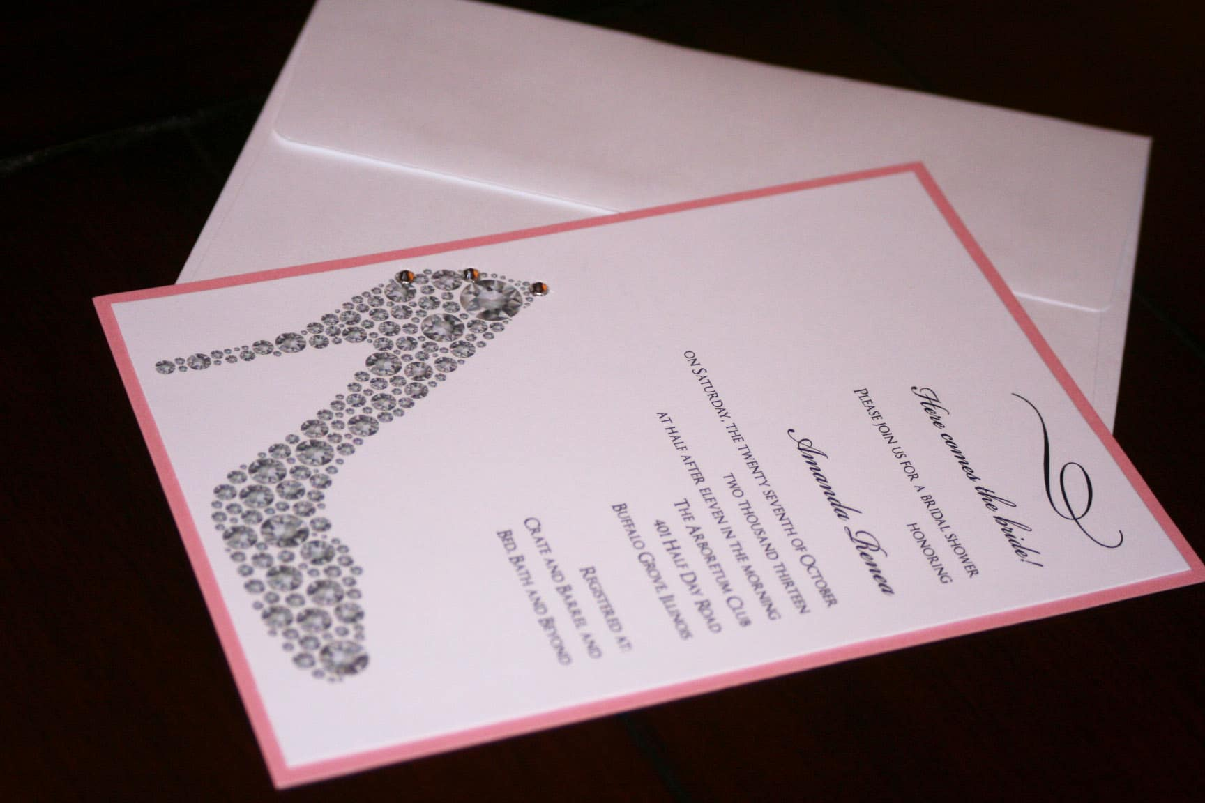 Bridal shoe shower invitations 2 too chic little shab design bridal shoe shower invitations 2 filmwisefo