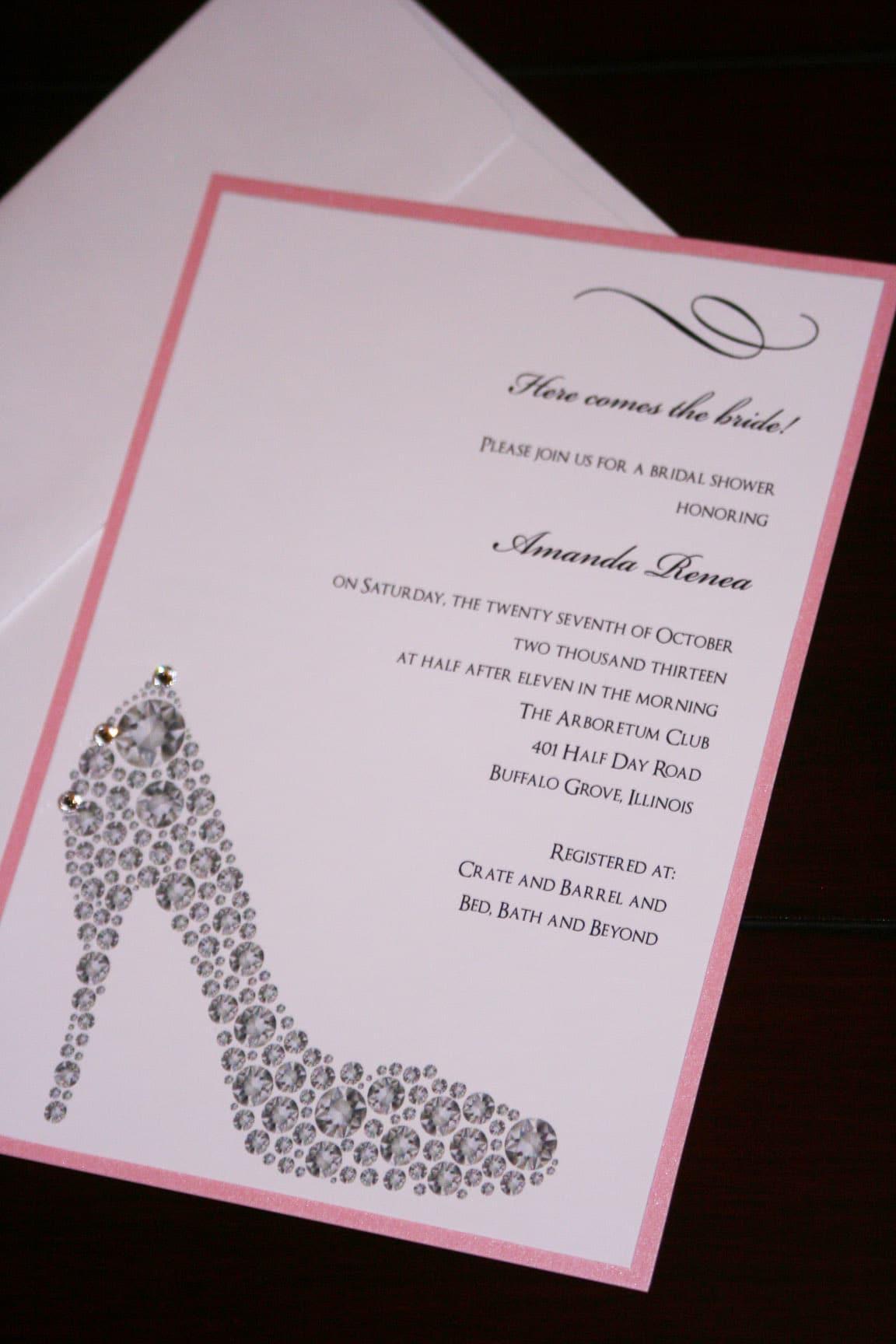 home bridal shoe shower invitations 3