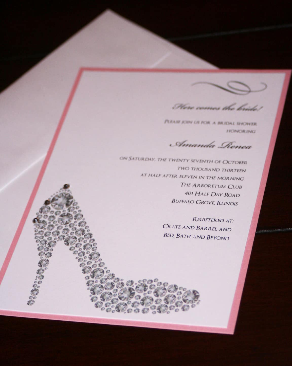 Shoe Bridal Shower Invitations Too Chic Amp Little Shab