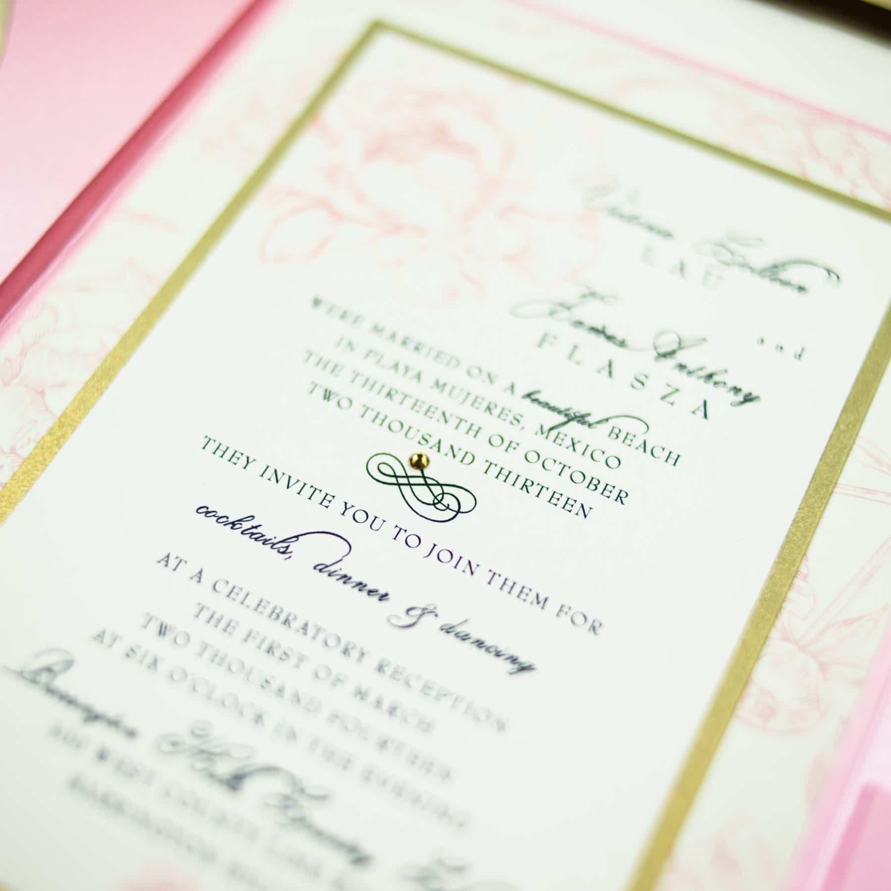 Pink Peony Wedding Invitations - Too Chic & Little Shab Design ...