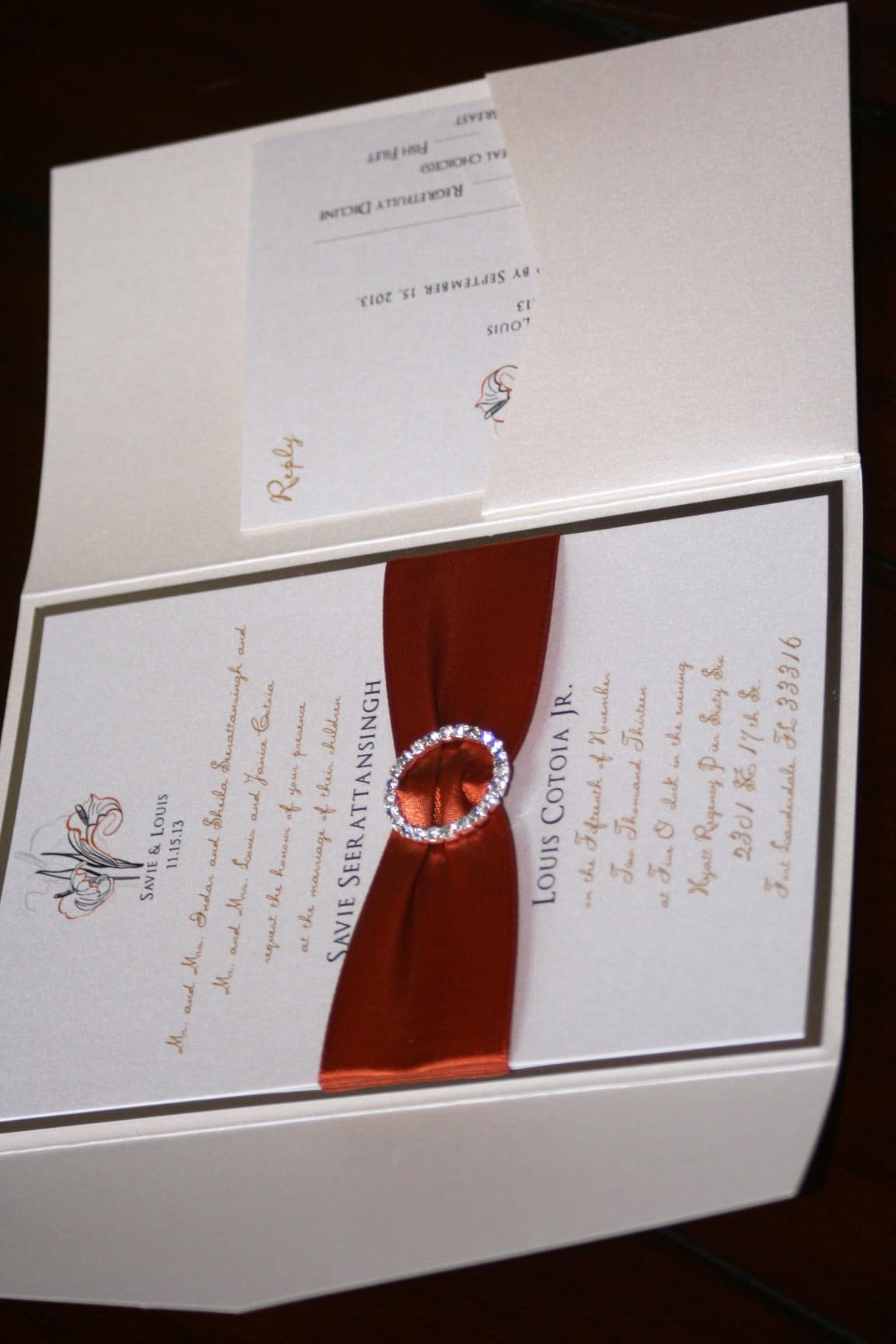 calla lily wedding invitations 6 - Too Chic & Little Shab Design ...