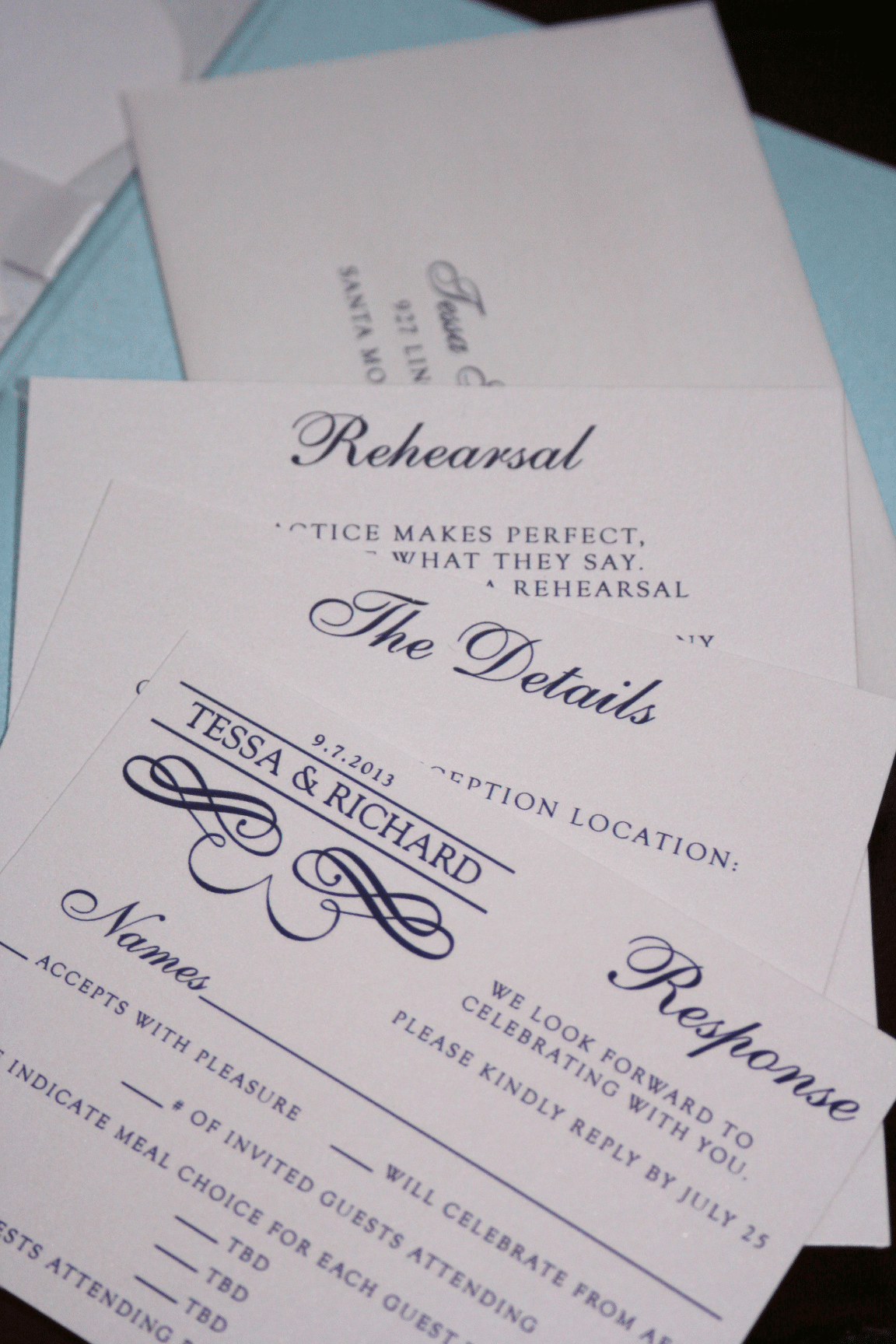 light blue silver wedding invitations - 28 images - light blue and ...