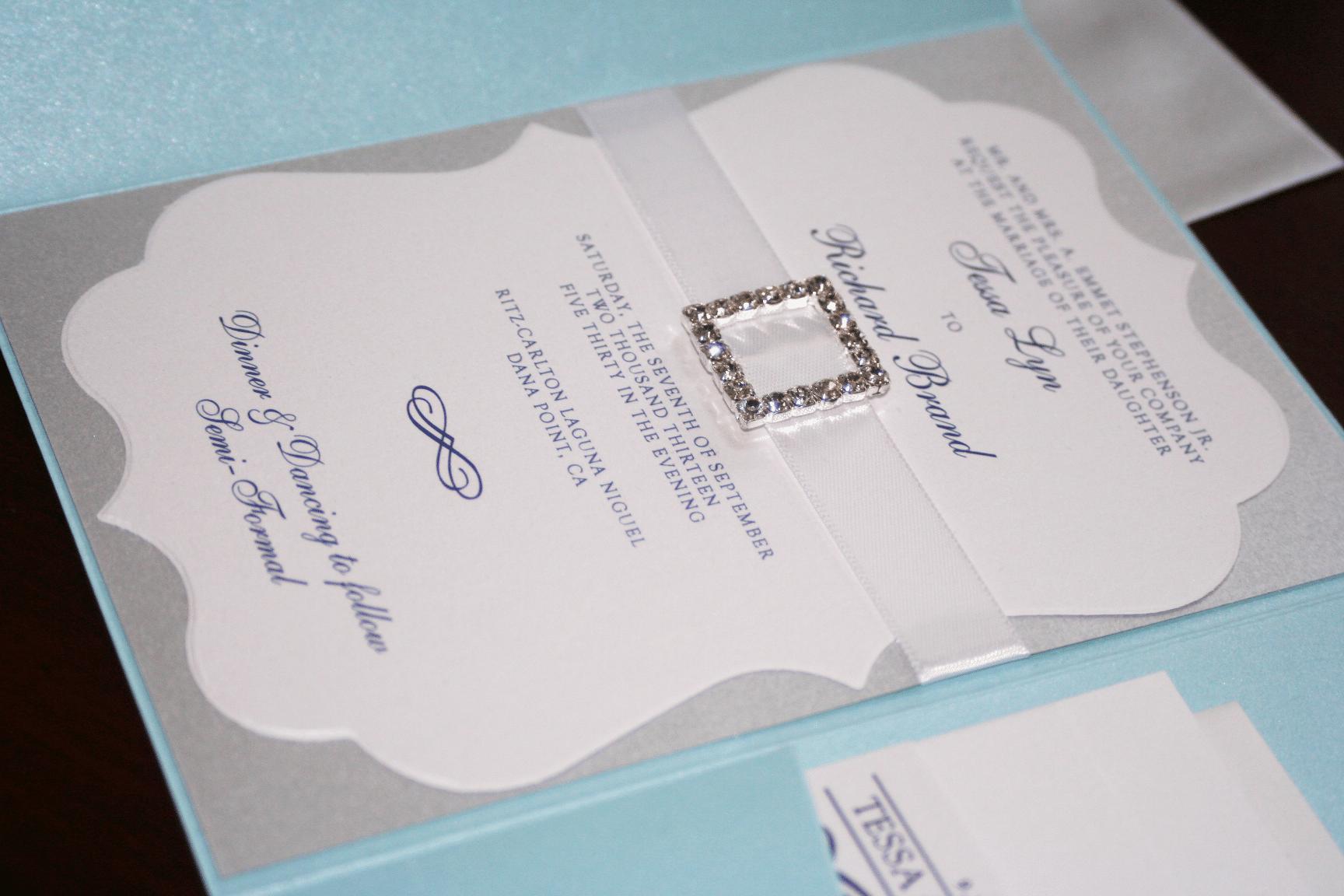 Rhinestone Wedding Invitations was amazing invitations sample
