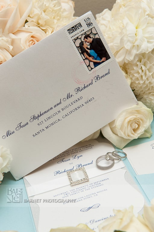 Light Blue And Silver Wedding Invitations Too Chic