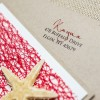 tan starfish wedding invitations