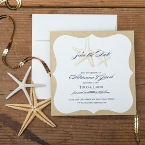 starfish save the dates