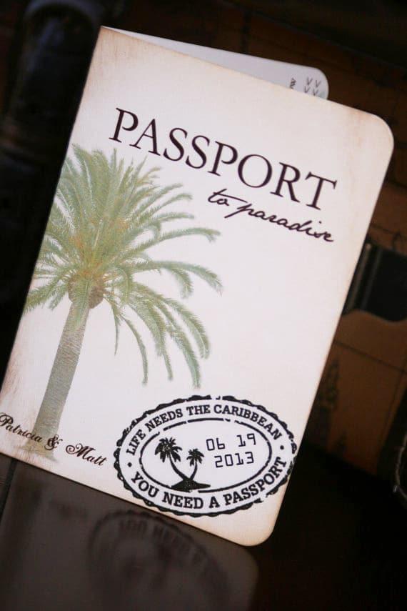 Passport Save The Dates Too Chic Amp Little Shab Design