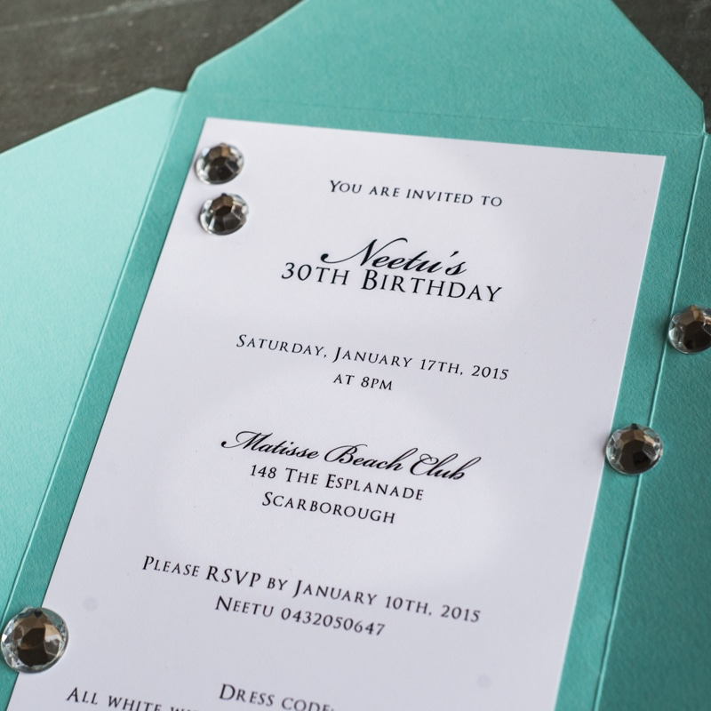 tiffany themed birthday invitations too chic little shab design