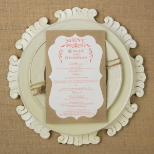 rustic wedding dinner menus